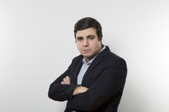 Studio shot of angry businessman  Royalty Free Stock Photography