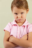Studio Shot Of Angry Young Girl Royalty Free Stock Photo