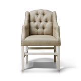 A studio shot of armchair. Isolated on white background Stock Photo