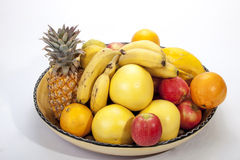 Studio Shot of Assortment of Fresh Fruit Royalty Free Stock Photography