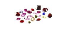 Studio shot of beautiful gemstones on white background Stock Images