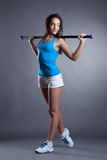 Studio shot of beautiful young athlete Royalty Free Stock Photo