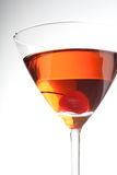 Studio shot of beverage in martini glass Royalty Free Stock Photography