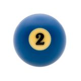 Studio shot of  billiard ball. Image of billiard ball, isolated on white background. Path included Stock Images