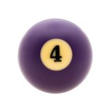 Studio shot of  billiard ball. Image of billiard ball, isolated on white background. Path included Royalty Free Stock Image