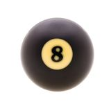 Studio shot of  billiard ball. Image of billiard ball, isolated on white background. Path included Royalty Free Stock Images