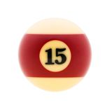 Studio shot of  billiard ball. Image of billiard ball, isolated on white background. Path included Stock Photo