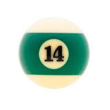 Studio shot of  billiard ball Stock Photos