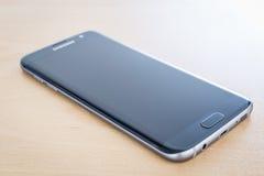 Studio shot of a black Samsung Galaxy S7 EDGE Stock Image