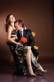 Studio shot of bride and groom Stock Images