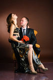 Studio shot of bride and groom Royalty Free Stock Photography