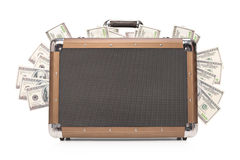 Studio shot of a briefcase full of cash Stock Image