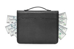 Studio shot of a briefcase full of money Stock Image