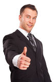 Studio shot of a business man on white background Royalty Free Stock Images