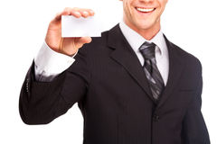 Studio shot of a business man on white background Stock Images