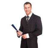 Studio shot of a business man on white background Stock Photo