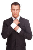 Studio shot of a business man on white background Royalty Free Stock Photos