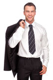 Studio shot of a business man on white background Royalty Free Stock Photography