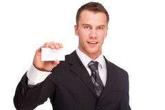 Studio shot of a business man on white background Stock Photography