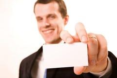 A studio shot of a businessman Stock Image