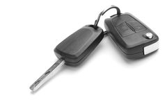 A studio shot of car keys stock images