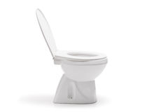 Studio shot of a ceramic toilet bowl Royalty Free Stock Image