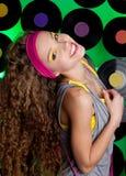 Studio shot of cheerful teenage girl Royalty Free Stock Images
