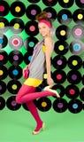 Studio shot of cheerful teenage girl Royalty Free Stock Photos