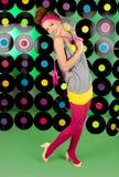 Studio shot of cheerful teenage girl Stock Photo