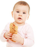 Studio shot on child nutrition Royalty Free Stock Photography