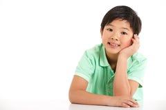 Studio Shot Of Chinese Boy Stock Images