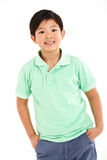 Studio Shot Of Chinese Boy Royalty Free Stock Images