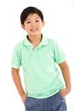 Studio Shot Of Chinese Boy Royalty Free Stock Images