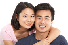 Studio Shot Of Chinese Couple Stock Photography