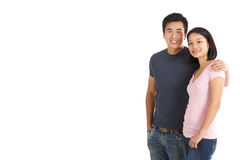 Studio Shot Of Chinese Couple Stock Photo