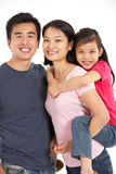 Studio Shot Of Chinese Family Stock Photos