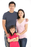 Studio Shot Of Chinese Family Stock Images