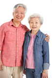 Studio Shot Of Chinese Senior Couple Stock Photography