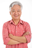 Studio Shot Of Chinese Senior Man Royalty Free Stock Images
