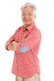Studio Shot Of Chinese Senior Man Stock Images