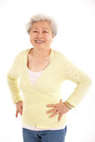 Studio Shot Of Chinese Senior Woman Stock Photography