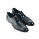 Studio shot of classic male shoes Royalty Free Stock Images