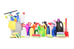 Studio shot of a cleaning supplies Stock Images