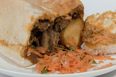 Studio Shot Close up of Traditional Bunny Chow Stock Photography