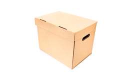 Studio shot of a closed cardboard box Royalty Free Stock Image