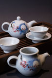 Studio shot closeup Tea Set Royalty Free Stock Photography