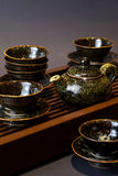 Studio shot closeup Tea Set Royalty Free Stock Images