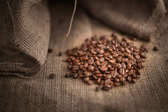 Studio Shot of Coffee Beans Royalty Free Stock Images