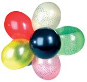 Studio shot of colorful party balloon Royalty Free Stock Images