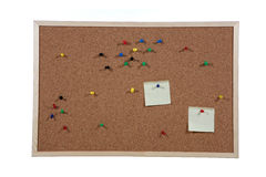 Studio shot of cork board Stock Photos